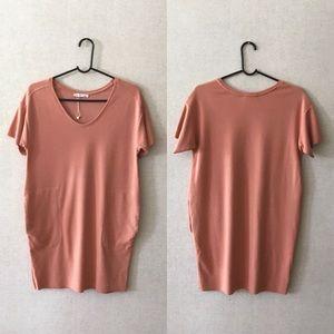 NWOT Zara W&B Dusty Pink Shirt Dress